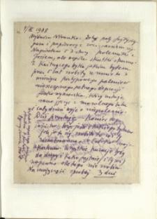 Listy Stanisława Ignacego Witkiewicza do żony Jadwigi z Unrugów Witkiewiczowej. List z 04.03.1938.