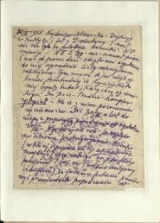 Listy Stanisława Ignacego Witkiewicza do żony Jadwigi z Unrugów Witkiewiczowej. List z 30.03.1938.