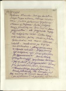 Listy Stanisława Ignacego Witkiewicza do żony Jadwigi z Unrugów Witkiewiczowej. List z 16.04.1938.