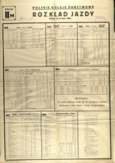 [Afisz] Rozkład Jazdy : ważny od 14 maja 1950 r.: arkusz III M