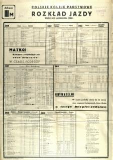 [Afisz] Rozkład Jazdy : ważny od 8 października 1950 r.: arkusz III M