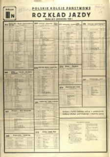 [Afisz] Rozkład Jazdy : ważny od 8 października 1950 r.: arkusz III N