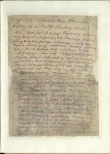 Listy Stanisława Ignacego Witkiewicza do żony Jadwigi z Unrugów Witkiewiczowej. List z 29.04.1938.