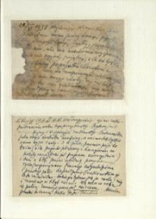 Listy Stanisława Ignacego Witkiewicza do żony Jadwigi z Unrugów Witkiewiczowej. Kartka pocztowa z 22.06.1938. Kartka pocztowa z 22.02.1938.