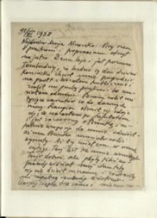 Listy Stanisława Ignacego Witkiewicza do żony Jadwigi z Unrugów Witkiewiczowej. List z 11.07.1938.