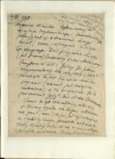 Listy Stanisława Ignacego Witkiewicza do żony Jadwigi z Unrugów Witkiewiczowej. List z 17.07.1938.