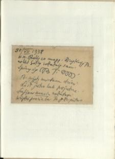 Listy Stanisława Ignacego Witkiewicza do żony Jadwigi z Unrugów Witkiewiczowej. Kartka pocztowa z 30.07.1938.