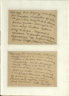 Listy Stanisława Ignacego Witkiewicza do żony Jadwigi z Unrugów Witkiewiczowej. Kartka pocztowa z 16.06.1939. Kartka pocztowa z 18.06.1939.