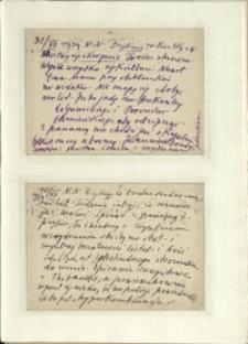 Listy Stanisława Ignacego Witkiewicza do żony Jadwigi z Unrugów Witkiewiczowej. Kartka pocztowa z 31.07.1939. Kartka pocztowa z 30.07.1939.