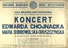 [Afisz] Koncert Edwarda Chojnacka, Maria Dobrowolska-Gruszczyńska