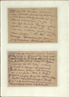 Listy Stanisława Ignacego Witkiewicza do żony Jadwigi z Unrugów Witkiewiczowej. Kartka pocztowa z 09.08.1939. Kartka pocztowa z 10.08.1939.