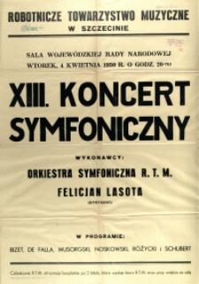 [Afisz] XIII. Koncert Symfoniczny