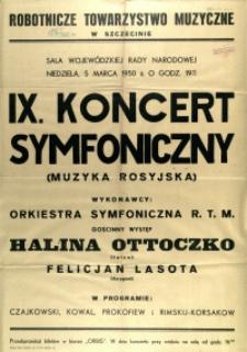 [Afisz] IX. Koncert Symfoniczny : (muzyka rosyjska)