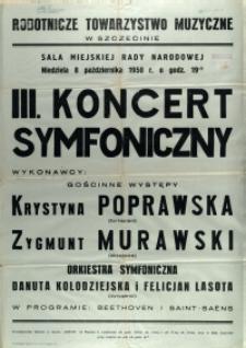 [Afisz] III. Koncert Symfoniczny