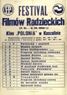 [Afisz] Festival Filmów Radzieckich