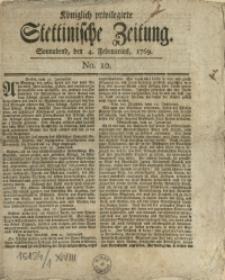 Königlich privilegirte Stettinische Zeitung. 1769 No. 10