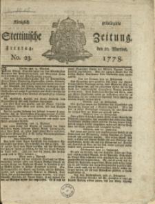 Königlich privilegirte Stettinische Zeitung. 1778 No. 23