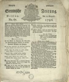 Königlich privilegirte Stettinische Zeitung. 1786 No. 67