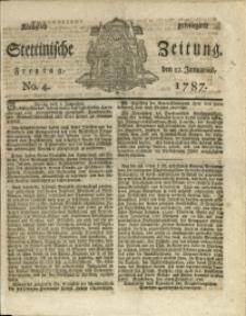 Königlich privilegirte Stettinische Zeitung. 1787 No. 4 + Beylage