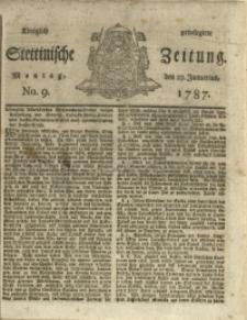 Königlich privilegirte Stettinische Zeitung. 1787 No. 9