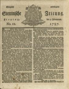 Königlich privilegirte Stettinische Zeitung. 1787 No. 12 + Beylage