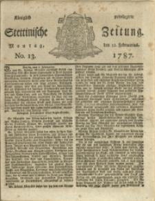 Königlich privilegirte Stettinische Zeitung. 1787 No. 13