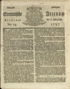 Königlich privilegirte Stettinische Zeitung. 1787 No. 14 + Beylage