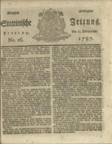 Königlich privilegirte Stettinische Zeitung. 1787 No. 16