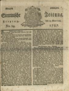 Königlich privilegirte Stettinische Zeitung. 1787 No. 24 + Beylage