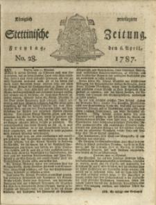 Königlich privilegirte Stettinische Zeitung. 1787 No. 28 + Beylage