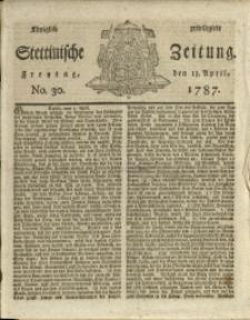 Königlich privilegirte Stettinische Zeitung. 1787 No. 30 + Beylage