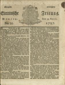 Königlich privilegirte Stettinische Zeitung. 1787 No. 35 + Beylage