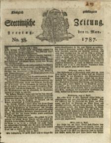 Königlich privilegirte Stettinische Zeitung. 1787 No. 38 + Beylage
