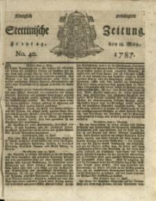 Königlich privilegirte Stettinische Zeitung. 1787 No. 40 + Beylage