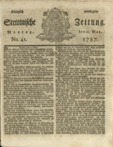 Königlich privilegirte Stettinische Zeitung. 1787 No. 41 + Beylage