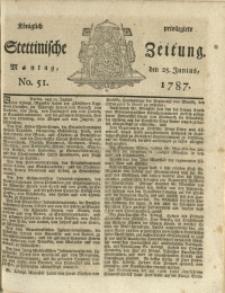 Königlich privilegirte Stettinische Zeitung. 1787 No. 51