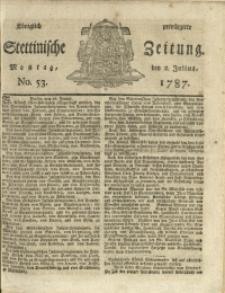 Königlich privilegirte Stettinische Zeitung. 1787 No. 53