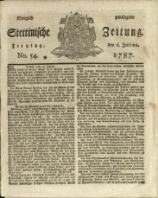 Königlich privilegirte Stettinische Zeitung. 1787 No. 54 + Beylage
