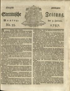 Königlich privilegirte Stettinische Zeitung. 1787 No. 55 + Beylage