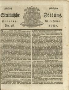 Königlich privilegirte Stettinische Zeitung. 1787 No. 56 + Beylage