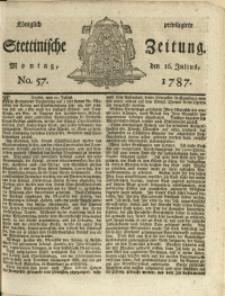 Königlich privilegirte Stettinische Zeitung. 1787 No. 57 + Beylage