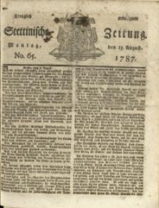 Königlich privilegirte Stettinische Zeitung. 1787 No. 65 + Beylage