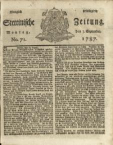Königlich privilegirte Stettinische Zeitung. 1787 No. 71 + Beylage
