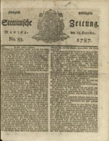 Königlich privilegirte Stettinische Zeitung. 1787 No. 83 + Beylage
