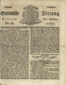 Königlich privilegirte Stettinische Zeitung. 1787 No. 88