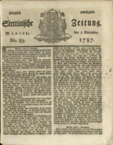 Königlich privilegirte Stettinische Zeitung. 1787 No. 89