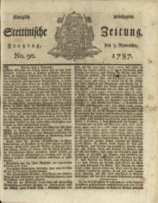 Königlich privilegirte Stettinische Zeitung. 1787 No. 90 + Beylage