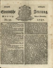 Königlich privilegirte Stettinische Zeitung. 1787 No. 95 + Beylage