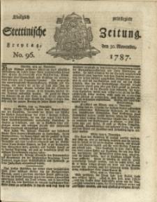 Königlich privilegirte Stettinische Zeitung. 1787 No. 96 + Beylage