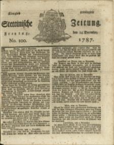 Königlich privilegirte Stettinische Zeitung. 1787 No. 100 + Beylage